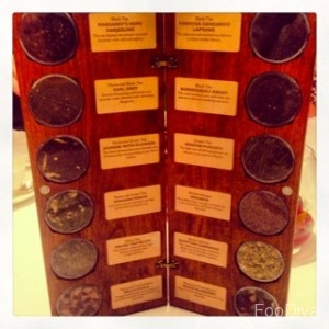 The Athenaeum - tea selection