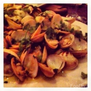 Sauteed clams
