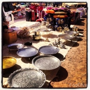 Tray tables - Ouarzazate market