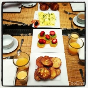 Riad breakfast - pain perdu