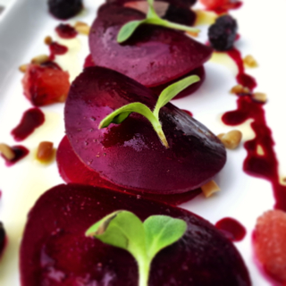Beetroot Goats Cheese Towers