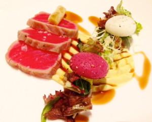 Tuna with wasabi mayonnaise