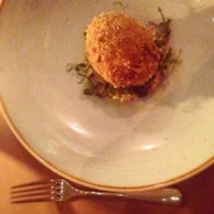 Crispy hen's egg - Table 9 by Darren Velvick