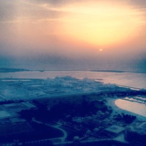 Sunset from Ray's Bar - Abu Dhabi