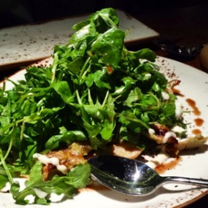 Peppered chicken and sweet potato salad, with rocket & tamarind