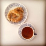 Greek coffee with koulouri