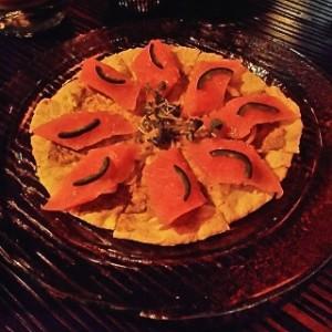 Japanese tuna pizza