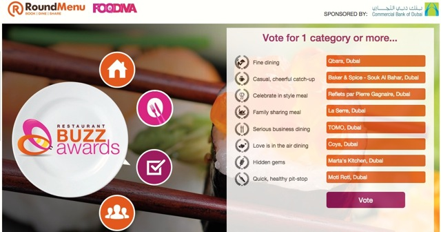 FooDiva votes #RestaurantBuzzAwards