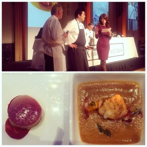 Pierre Gagnaire and Chris Kajioka's pumpkin and foie gras veloute