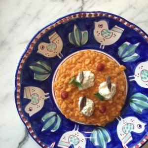 Primavera tomato risotto
