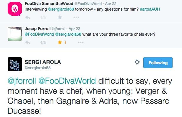 Sergi Arola tweet