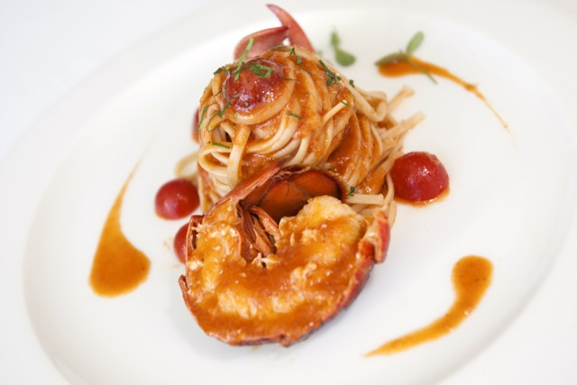 Bice Mare Dubai dish: Linguine pasta with blue lobster