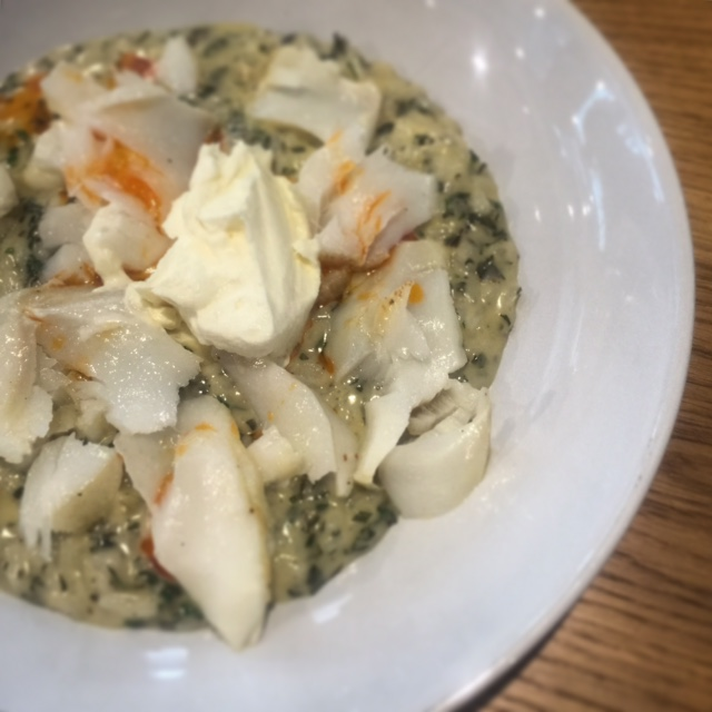 Lemon myrtle and cod risotto