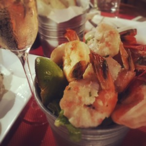 Palm Grill - bucket of citrus poached prawns