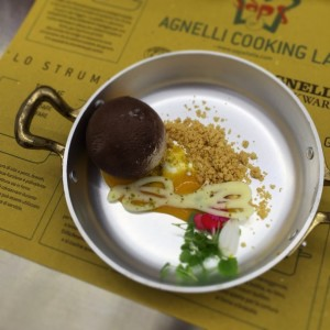 Chef Claudio Sadler dessert