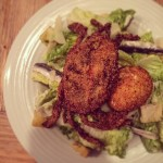 Soft shell crab Caesar salad