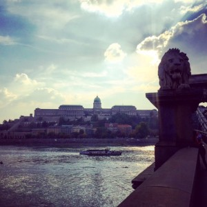Buda castle from the Chain Bridge