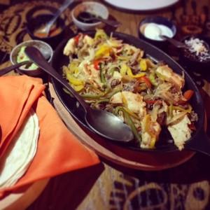 La Tablita - chicken and beef fajitas - Dubai restaurants