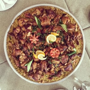 Chicken freekeh - Jordanian dishes