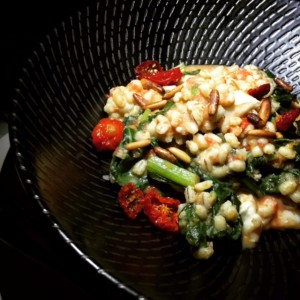 Organic spinach barley risotto - Shimmers On The Beach - Madinat Jumeirah - Dubai restaurants - Foodiva