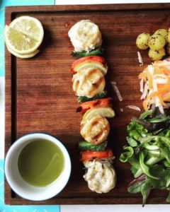 Grilled seabass skewers at Meat 'N Fish - Dubai restaurants - FooDiva
