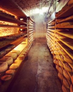 Wheels of Comte at Fromagerie Janin - French cheese - FooDiva