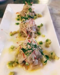 Tiger prawn crudo - Rockfish - Dubai restaurants - Foodiva