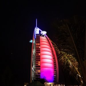 View of Burj Al Arab from Rockfish - Dubai restaurants - Foodiva