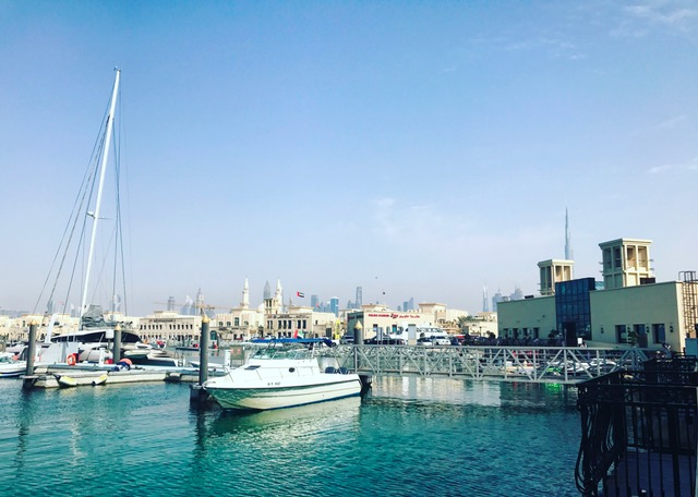 3 Fils view of Jumeirah Fishing Harbour - Dubai restaurants - Foodiva