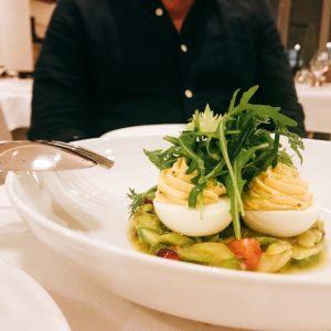 Eggs Mimosa - Chez Charles Restaurant - Dubai restaurants - Foodiva