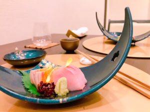 Kohantei - salmon and yellowtail sashimi - Dubai restaurants - FooDiva