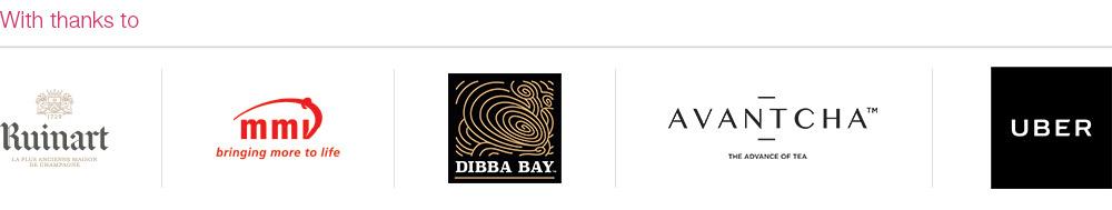 Our Sponsors - Ruinart, MMI, Dibba Bay Oyster, Avantcha, Uber