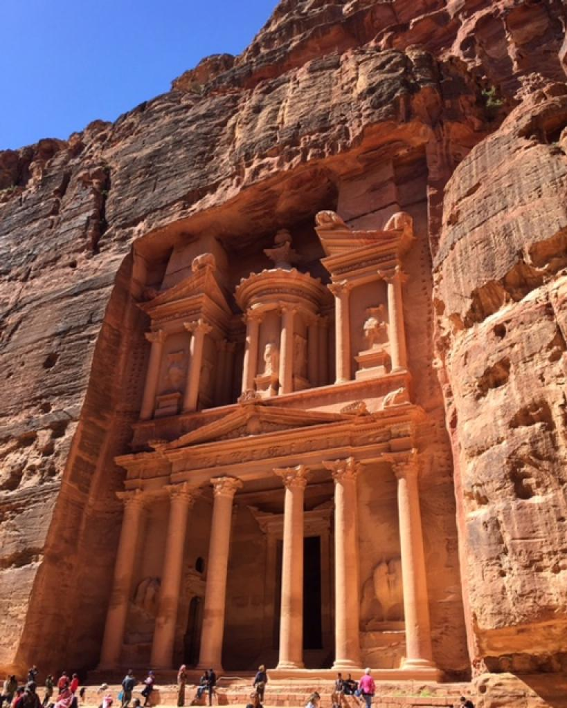 Petra in all its glory, a UNESCO World Heritage site