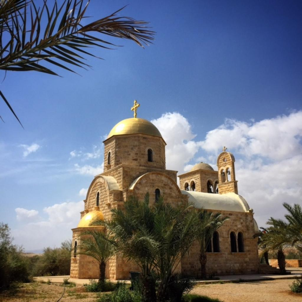 St John The Baptist Greek Orthodox Church on the Jordan River that borders Israel
