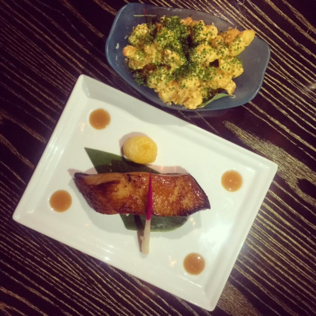 Nobu Doha - his original miso black cod and rock shrimp tempura