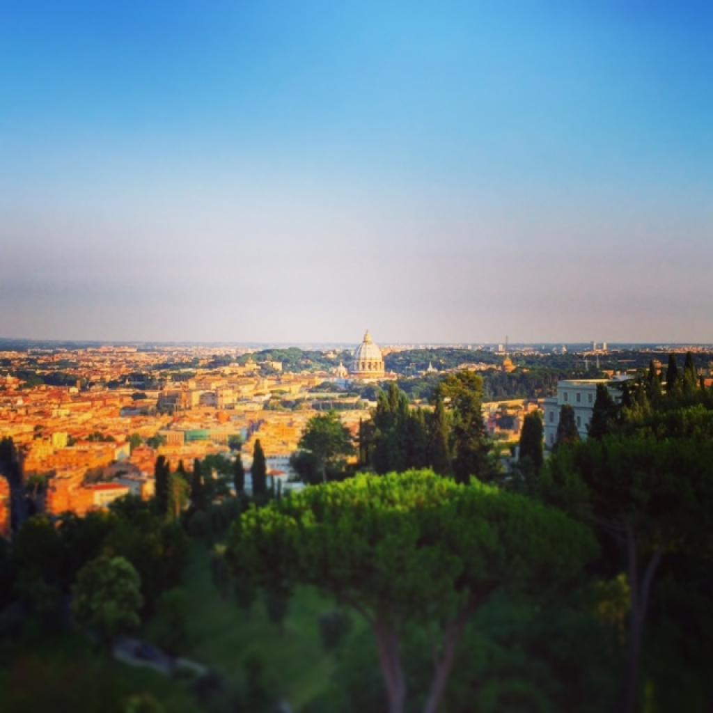 View of Rome from the Waldorf Astoria Cavalieri