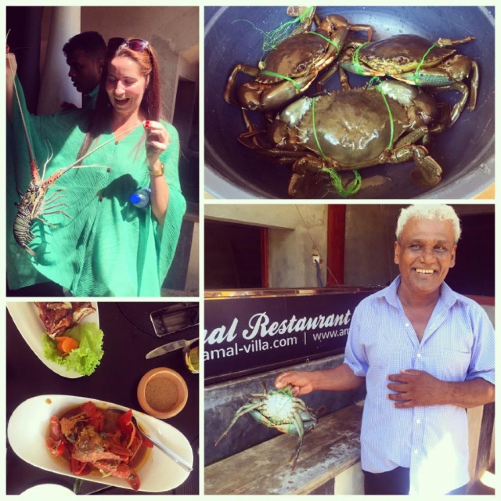 Seafood feast at Amal restaurant