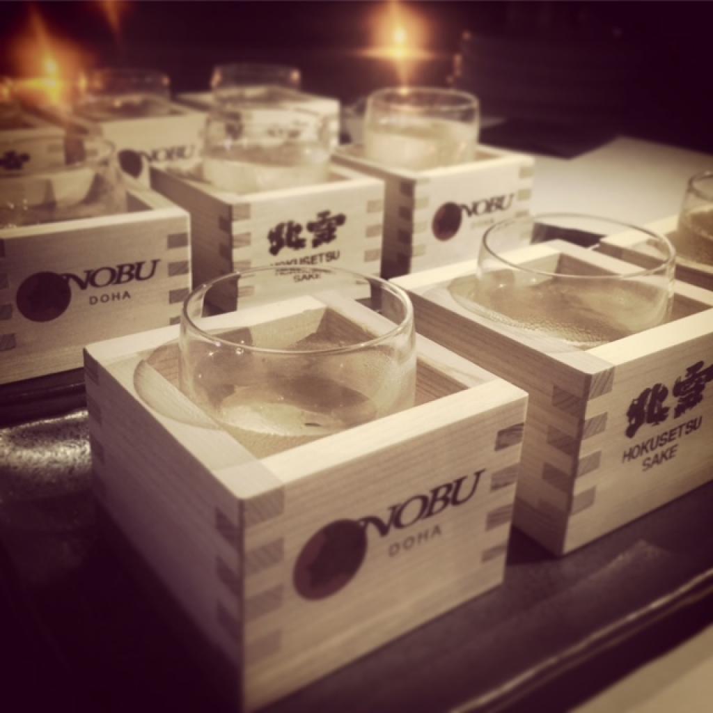 Sake at Nobu Doha